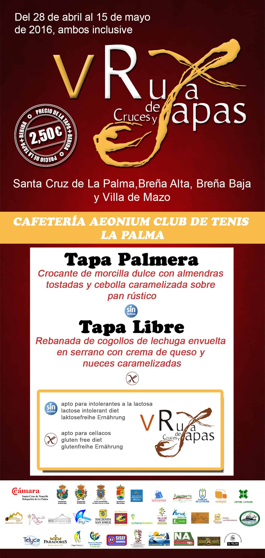 Cafetería Aeonium Club de Tenis La Palma